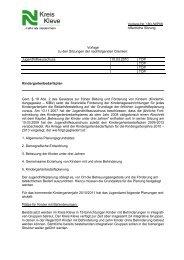 Vorlage Nr. 180 /WP09 öffentliche Sitzung Vorlage zu ... - Kreis Kleve