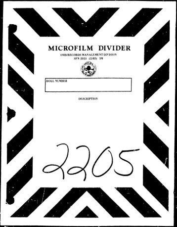 MICROFILM DIVIDER - North Dakota Legislative Branch