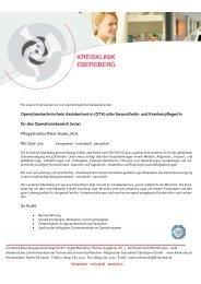 Operationstechnische/n Assistenten - Kreisklinik Ebersberg GmbH