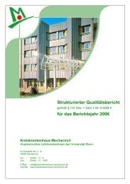 Qualitätsbericht 2006 - Kreiskrankenhaus Mechernich GmbH