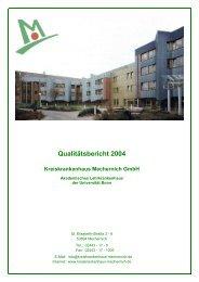 Qualitätsbericht 2004 - Kreiskrankenhaus Mechernich