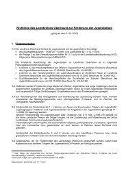 Richtlinie des Landkreises Oberhavel zur Förderung der Jugendarbeit