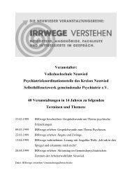 """Übersicht der Veranstaltungen """"IRRwege verstehen"""""""