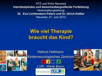 """Dr. Helmut Hollmann Vortrag """"Wie viel Therapie braucht"""