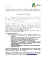 Ausschreibung Fallmanagerinnen/Fallmanager - Landkreis Oberhavel