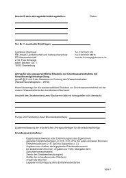 Antrag Grundwasserentnahme mit wr. Erlaubnis und UVP