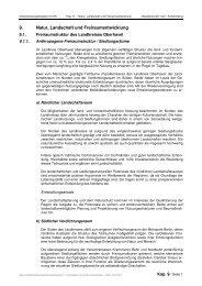 Natur, Landschaft und Freiraumentwicklung - Landkreis Oberhavel