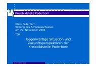 Gegenwärtige Situation und Zukunftsperspektiven ... - Kreis Paderborn