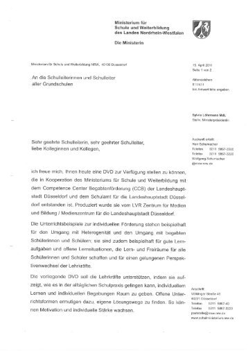 Anschreiben - Kreis Paderborn