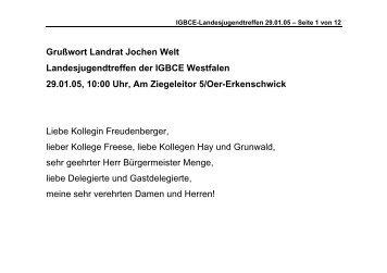 Grußworte des Landrats - Kreis Recklinghausen