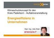 vortrag energieXperten, herr klatt - Kreis Paderborn