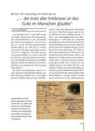 Zum 100. Geburtstag von Hubert Biernat - Kreis Unna