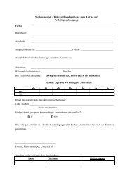 Stellenangebot zum Antrag auf Arbeitsgenehmigung - Kreis Stormarn