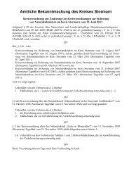 Kreisverordnung zur Sicherung von ... - Kreis Stormarn
