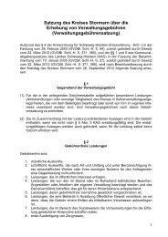 Satzung des Kreises Stormarn über die Erhebung ... - Kreis Stormarn