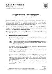 Merkblatt Zulassungspflicht für Tiertransporte (77.1 ... - Kreis Stormarn