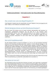 Merkblatt Hepatitis C - Kreis Viersen