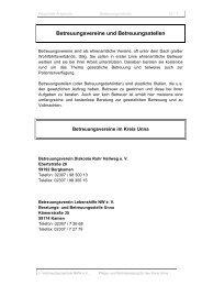 Betreuungsvereine und Betreuungsstellen - Kreis Unna
