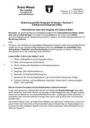 Belehrung gemäß Paragraph 43 Infektionsschutzgesetz - Kreis Wesel