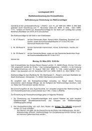 Aufforderung zur Einreichung von Wahlvorschlägen - Kreis Wesel