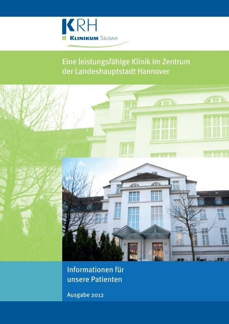 Patienteninformation KRH Klinikum Siloah - Klinikum Region ...