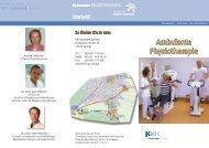 Infoflyer Physikalische Therapie - Klinikum Region Hannover GmbH