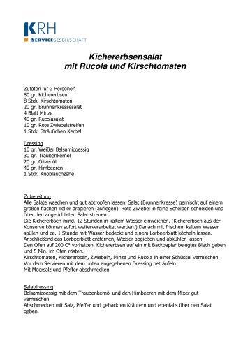 Kichererbsensalat mit Rucola und Kirschtomaten