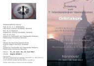 Orbitakurs - Klinikum Region Hannover GmbH