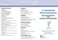 17. Hannöverscher Fiberbronchoskopiekurs - Klinikum Region ...