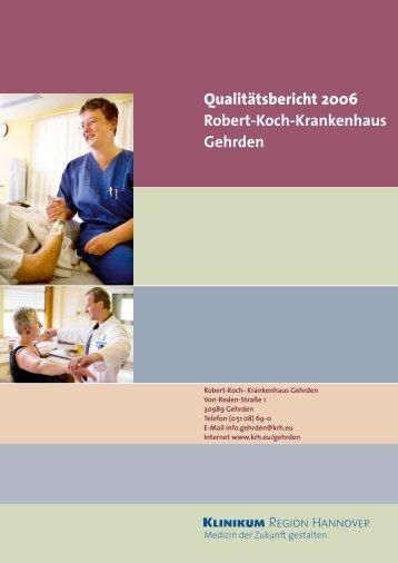 Qualitätsbericht KRH Klinikum Robert Koch Gehrden