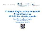Vorstellung Bauvorhaben - Klinikum Region Hannover GmbH