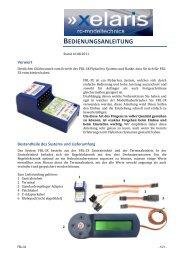 Anleitung Xelaris Flybarless System FBL-3X als PDF - Krick