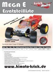 MegaE XT10Truggy 4WD EP 1:10 - Krick