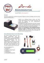 Anleitung Rondo Flybarless System als PDF Datei - Krick