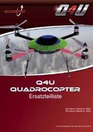 Scorpio Qudrocopter Q4U Ersatzteilliste als PDF Date - Krick