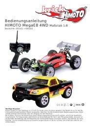 Bedienungsanleitung HIMOTO MegaE8 4WD Maßstab 1:8 - Krick