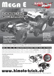 MegaE 4WD Offroad Chassis EP 1:10 - Krick