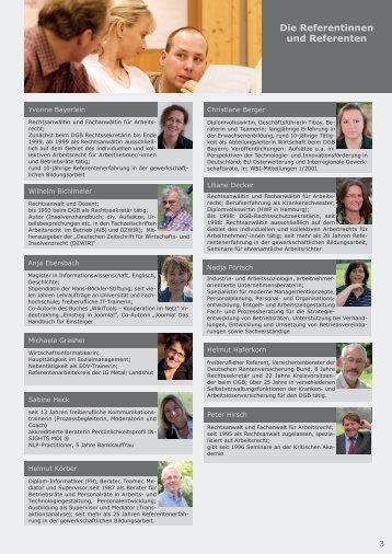 Die Referentinnen und Referenten - Kritische Akademie