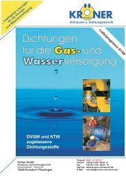 Flachdichtungen für Gas und Wasser - Kröner GmbH - Armaturen ...