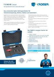 Das TENDO E compact-Starter-Kit enth - Kromer GmbH