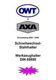 Schnellwechsel-Stahlhalter DIN 69 880 - Kromer GmbH
