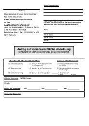Antrag auf verkehrsrechtliche Anordnung - Gemeinde Kronau