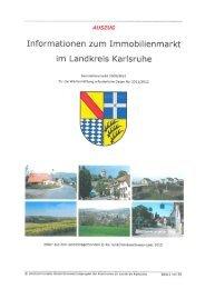 Informationen zum Immobilienmarkt im Landkreis Karlsruhe