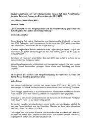 Neujahrsansprache von Bürgermeister Heß als pdf - Gemeinde ...