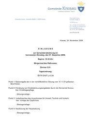 Kronau, 25. November 2009 EINLADUNG zur Gemeinderatssitzung ...
