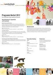 Programm Herbst 2012 - Stadt Kronberg im Taunus