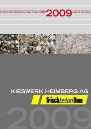 KIESWERK HEIMBERG AG - Frischbeton Thun AG