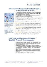Web-Anwendungen automatisch testen Ihre Geschäft verdient eine ...