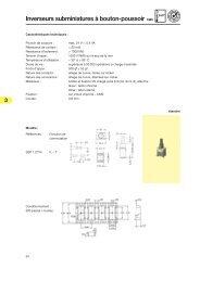 3 Inverseurs subminiatures à bouton-poussoir CMS - Knitter-Switch
