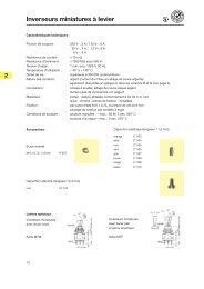 Inverseurs miniatures à levier - Knitter-Switch